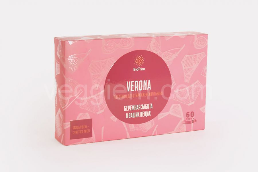 Пластины для стирки женского белья Biotrim Verona,60 пластин