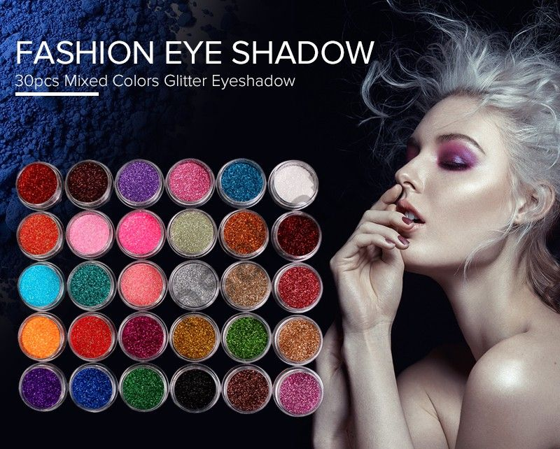 Минеральне тени для макияжа Случайный цвет 30 шт