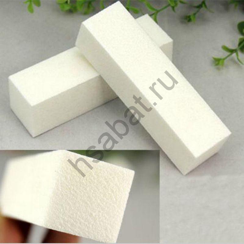 Шлифовальный блок для маникюра белый 5 шт
