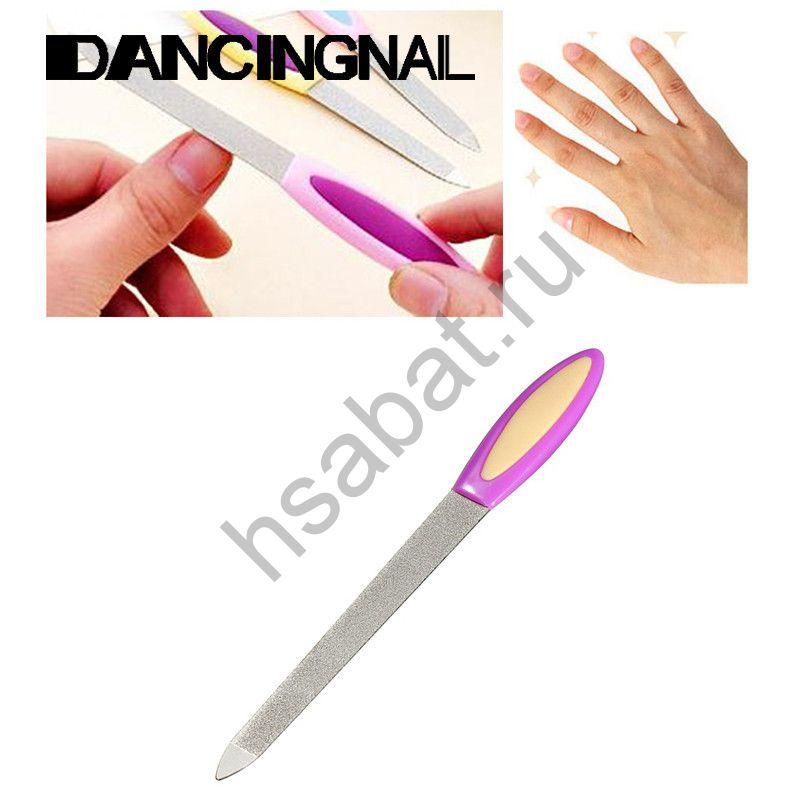 Двусторонняя металлическая пилка для ногтей 1 шт  1pcs
