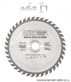CMT 285.054.14M Диск пильный 350x30x3,5/2,5 15гр 10гр ATB Z54