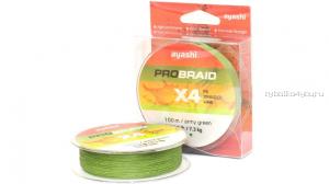 Плетеный шнур Ayashi Pro Braid-X4 100 м / цвет: зеленый