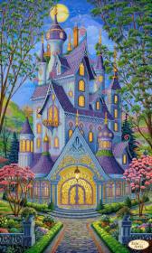 ТК-079. Волшебный Замок. Весна. А3+ (набор 1775 рублей) Tela Artis