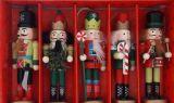 Щелкунчик - набор деревянных ёлочных игрушек 5 шт IR3