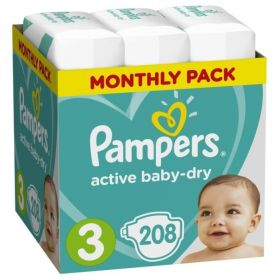 Pampers Active Baby 5-9кг, 208шт
