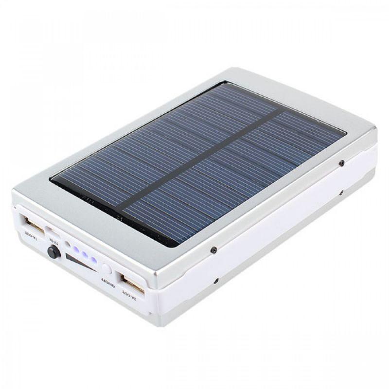 Power Bank 20000mАh с солнечной панелью