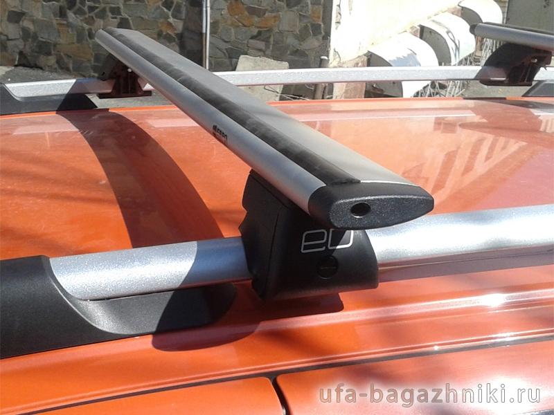 Багажник на рейлинги Евродеталь, крыловидные дуги