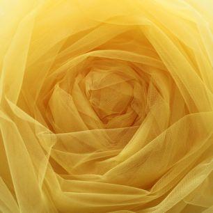 Мягкий фатин (еврофатин) 300х25 см - солнечный желтый