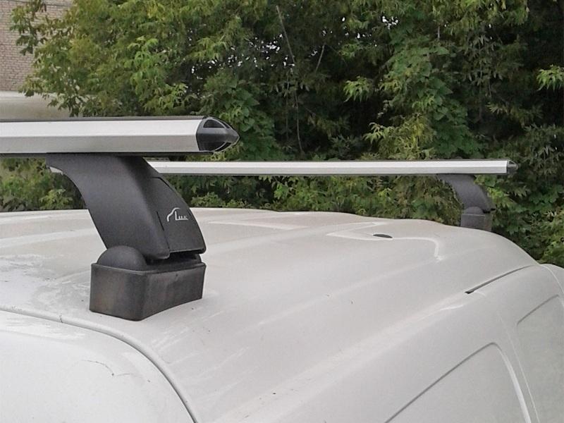 Багажник на крышу Lada Largus (без рейлингов), Lux, аэродинамические  дуги (53 мм)