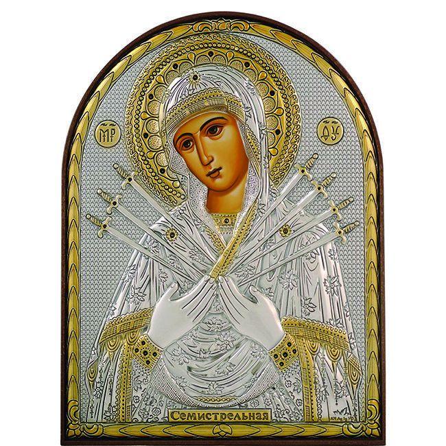 Набор ДТ Алмазная живопись Икона Семистрельная Богородица 40*30см DA-K1649