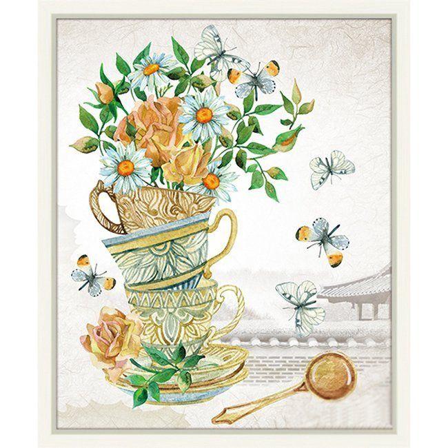 Набор ДТ Алмазная мозаика Чайная композиция 40*50см DA-0069