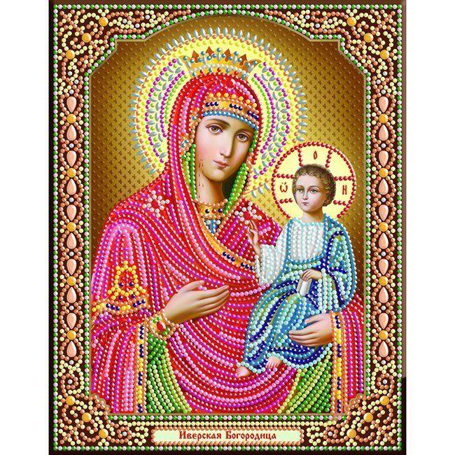 Набор ДТ Алмазная мозайка Иверская богородица 28*34см DA-5845