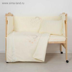 """Комплект в кроватку """"Ангелочек"""" (6 предметов), цвет бежевый 7099   1999281"""