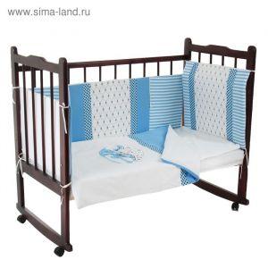 """Комплект в кроватку """"Очарование"""" (6 предметов), цвет голубой 10016   1918412"""