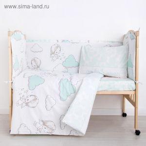 """Комплект в кроватку (6 предметов) """"Маленький ангел"""", бязь, хл100%   4194240"""