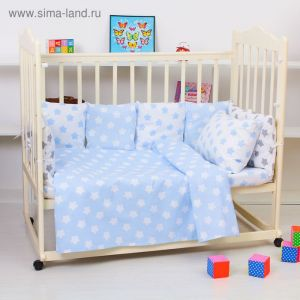 """Комплект в кроватку для мальчика """"Прянички"""" (4 предмета), цвет голубой 10400 2621241"""