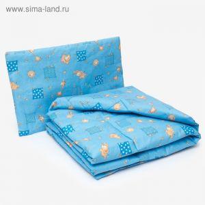Комплект в кроватку для мальчика (одеяло 110*140 см, подушка 40*60 см), цвет МИКС 1523044