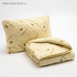"Набор ""Овечья шерсть"" в п/э, одеяло размер 110х140 см, 150гр/м2 + подушка 40х60 см   4313330"