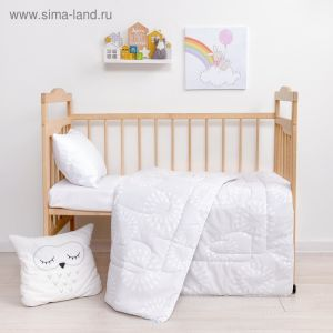 Одеяло Крошка Я цв. серый 110*140 см, хлопок/синтепон   4223975