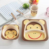 Набор детской посуды из бамбука Bamboo Ware Kids Set, Обезьяна (1)