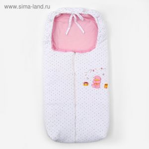 Конверт детский, размер 40*90 см, цвет розовый   3680231