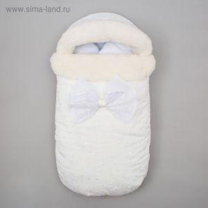"""Конверт зимний Крошка Я """"Angel"""", белый, рост 50-62 см 4281243"""