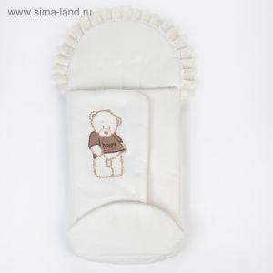 """Конверт на запах """"Мишка Happy"""" (капитон), цвет молочный/шоколадный   4322921"""