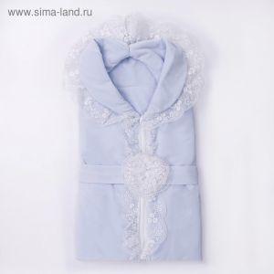 Конверт-одеяло (велюр) К129, голубой, размер 100*87  4147130