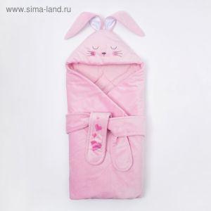"""Конверт-одеяло Крошка Я """"Зайчишка"""", розовый, рост 50-62см 4281242"""
