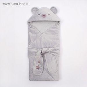 """Конверт-одеяло Крошка Я """"Мишутка"""", серый, рост 50-62см 4281241"""
