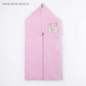 Конверт-плед, рост 68 см, цвет розовый К38   2103445