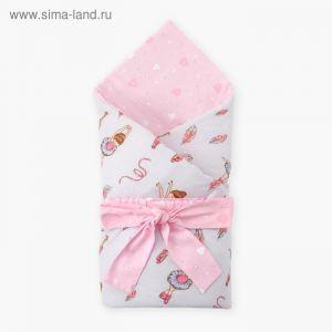 Одеяло (конверт) двустороннее «Гимнастика», 100х100 см, бязь/синтепон