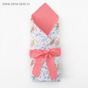Одеяло (конверт) двустороннее «Милые принцессы», 100х100 см, бязь/синтепон