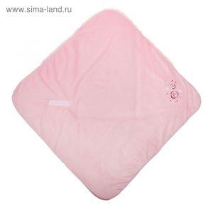 Одеяло-конверт на липучке, цвет розовый, размер 75x75x1 см (арт. 40-8510)