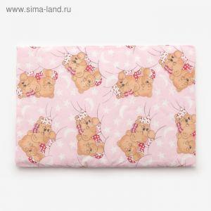 Подушка, размер 40*60 см, цвет розовый, набивка МИКС 224 1424003