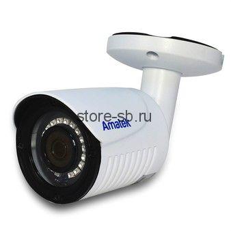 AC-HS202 v2 (2,8) Amatek Уличная цилиндрическая мультиформатная MHD (AHD/ TVI/ CVI/ CVBS) видеокамера, объектив 2.8мм, 2Mp, Ик