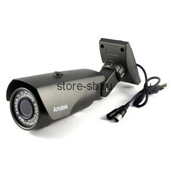 AC-AS204V (2.8-12mm) Amatek Уличная цилиндрическая AHD видеокамера, объектив 2.8-12мм, 2Mp, Ик