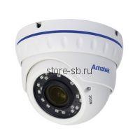 AC-IDV203VM (2,8-12) Amatek Купольная антивандальная IP видеокамера, объектив 2.8-12мм, 3/2Мп, Ик, POE, встроенный микрофон