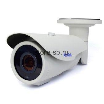 AC-IS206ZA v2 (мото, 2,7-13,5) Amatek Уличная цилиндрическая IP видеокамера, 3Мп, Ик, POE, выход питания микрофона