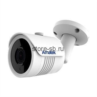 AC-IS804 (4) Amatek Уличная цилиндрическая IP камера, обьектив 4 mm, ИК, POE, 8mp