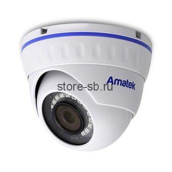 AC-IDV203AS (2,8) Amatek Купольная антивандальная IP видеокамера, обьектив 2.8мм, 3Мп/2Мп, Ик, POE
