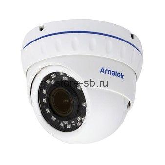 AC-IDV403ZA (2.7-13.5) Amatek Купольная антивандальная IP видеокамера, объектив 2.7-13.5мм, 4Мп, Ик, POE, аудиовход, выход для питания микрофона
