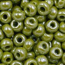 Бисер чешский 83113 зеленый непрозрачный блестящий Preciosa 1 сорт