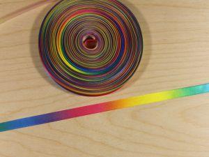 Атласная лента с рисунком, градиент №2, ширина 09 мм, длина 10 метров, Арт. АЛР0019-09-2