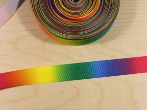 Репсовая лента с рисунком, градиент №2, ширина 25 мм, длина 10 метров, Арт. ЛР5817-25-2