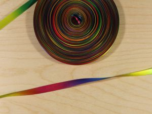 `Атласная лента с рисунком, градиент №2 ДВУХСТОРОННЯЯ, ширина 09 мм, Арт. Р-АЛР0018-09-2