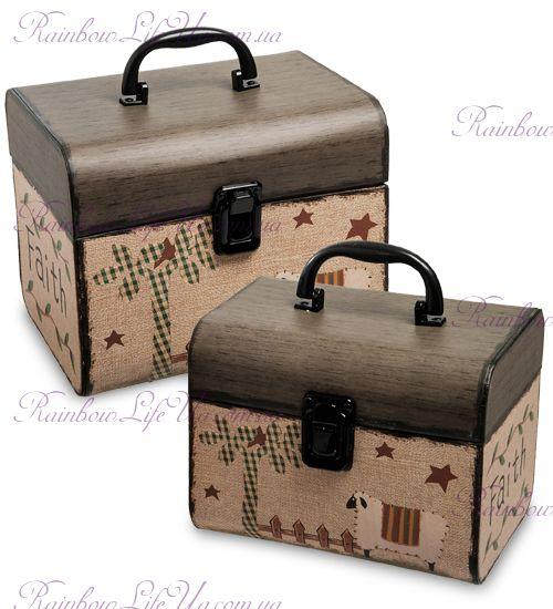 """Набор подарочных коробок с ручкой 2 шт """"House"""""""