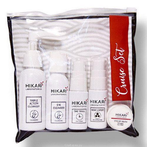 Набор уходовой косметики для жирной и смешаной кожи Hikari (Хикари) 5 ед в упаковке