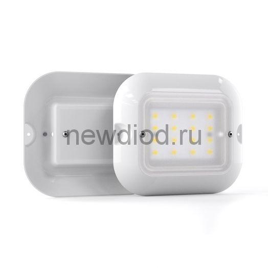Светильник светодиодный подъездный ЖКХ LuxON Meduse 10W-ECO-S, 5000К, 850лм, 220VAC, IP20, оптико-аккустический датчик
