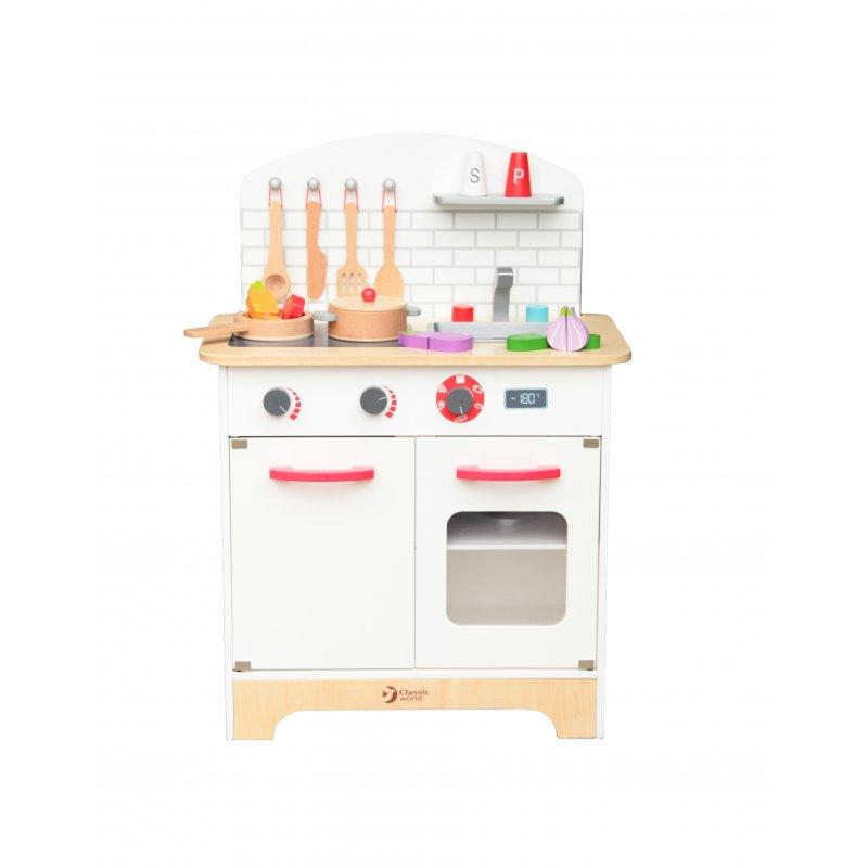Деревянная кухня с аксессуарами Classic World CW4201